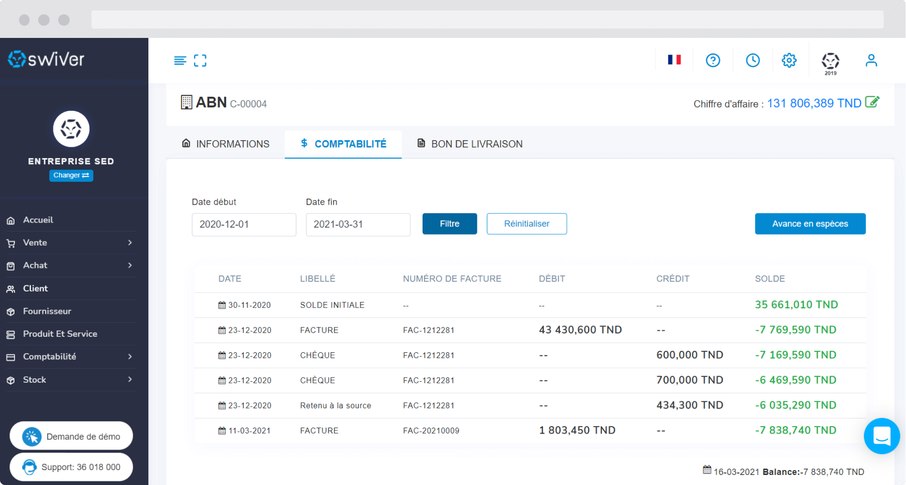 Capture compta client (Gestion commerciale)